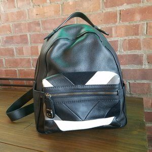 Coach Large Black Campus Backpack PatchWork